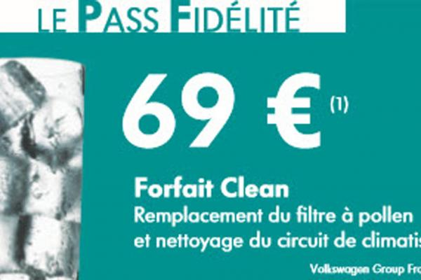 Forfait Clean Climatisation 69€