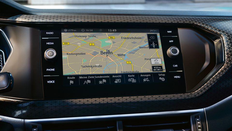 GPS ecran 8 pouces dans le nouveau t-Cross Volkswagen